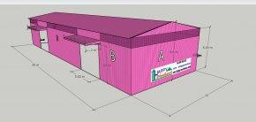 แจกแบบ 3D ฟรี สร้างโกดังให้เช่า สร้างคลังสินค้าให้เช่า ราคาถูก คืนทุนไว แข็งแรง สร้างไว