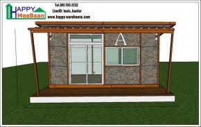 แจกแบบบ้าน สำหรับสร้างบ้านน็อคดาวน์ บ้านสำเร็จรูป รีสอร์ท