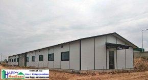 สร้างบ้านพักพนักงาน ชั้นเดียว สไตล์รีสอร์ท ด้วยผนังEPS Isowall Sandwich panel  ระบบบ้านสำเร็จรูป