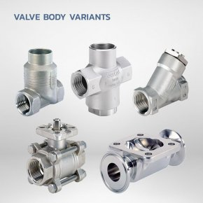 Valve body variants