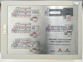 Graphic ananciator fire alarm System