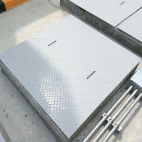 FRP Checker plate ฝาปิดบ่อไฟเบอร์กลาสแบบแผ่น
