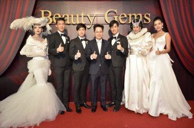 """""""บีม - ภัทร"""" และ นายแบบเกาหลี """"จอง ฮยอนแท"""" ยลโฉมเพชรร้อยล้าน ในงานเปิดตัว """"โชวรูม บิวตี้ เจมส์"""""""