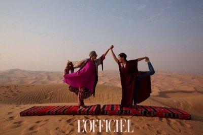 """L'Officiel"" จัดแฟชั่นโชว์เอ็กคลูซีฟสุดหรู ท่ามกลางบรรยากาศทะเลทราย แห่ง อาบูดาบี"