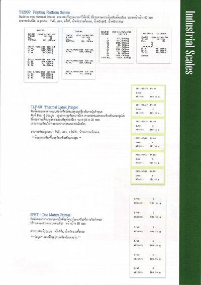 INDUSTRIAL SCALE CATALOGUE