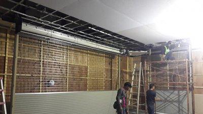 ซ่อมประตูม้วน โลตัส สาขานวนคร งานติดตั้งใหม่ระบบมอเตอร์ไฟฟ้า 3 ชุด