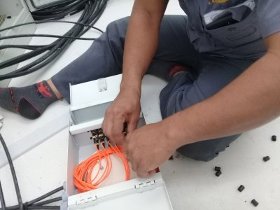 เข้าหัว Fiber Optic (Fusion Splice)