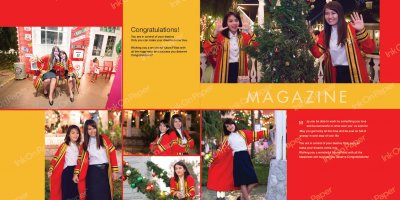 Magazine P003 in graduate theme