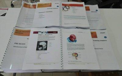 สื่อการเรียนการสอน ปริ้นสีเลเซอร์ 4 สี หน้าหลัง เข้าเล่มกระดูกงู
