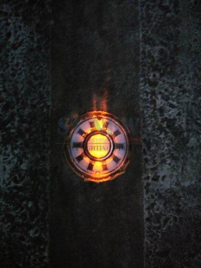 งานติดตั้งหมุดไฟกระพริบ LED