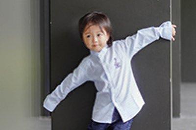 Mandarin Collar Stripe Printed ผ้าพิมพ์คอจีนลายริ้ว