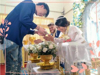 งานแต่งงานธีมสีฟ้า ขาว