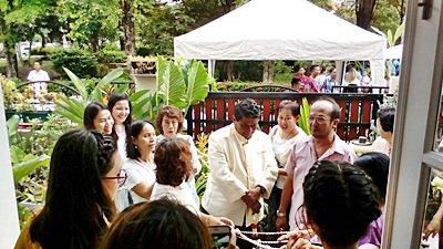 งานวันที่ 15 ก.ค. 61 งานแต่งธีมฟ้าอ่อนขาว พระเช้างานคุณหมูแดง