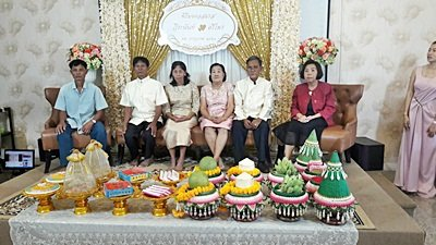 งานวันที่ 22 ก.ค. 61 งานแต่ง ธีมส้มทองระยิบ พระเช้างานคุณศรีไพร