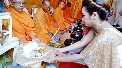 งานวันที่ 31 ก.ค. 61 งานแต่งธีมครีมขาวทอง พระเช้างานคุณจุ๋ม