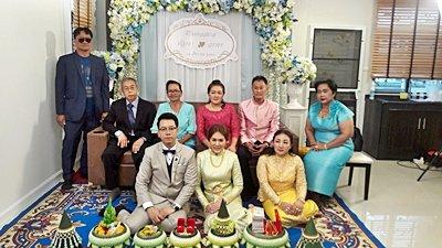 งานวันที่ 18 ส.ค. 61 งานแต่งธีมฟ้าขาว  พระเช้างานคุณวรธร
