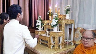 งานวันที่ 24 ส.ค.61 งานแต่งธธีมครีมขาวทอง  พระเช้างานคุณต้น