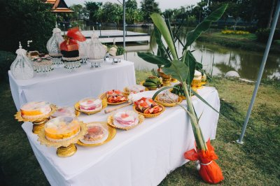 งานแต่งงานพิธีเช้าเรือนไทย