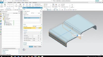 How to create Joggle by NX11 Sheet metal