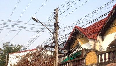 ติดตั้งโคมไฟถนน LED Street Light