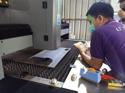 fiber laser  jw 1kw ส่งมอบ สมุทรสาคร