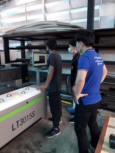 ส่งมอบ fiber laser  LT3015s 1kw พิกัด นครราชสีมา
