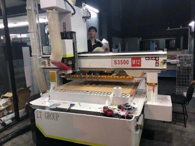 ส่งมอบ CNC ROUTER MACHINE 9.0 KW 12 TOOLS AUTO  พิกัดชลบุรี
