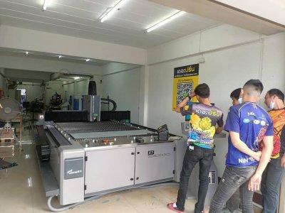 ส่งมอบ fiber laser  dema x7 1kw พิกัด น่าน