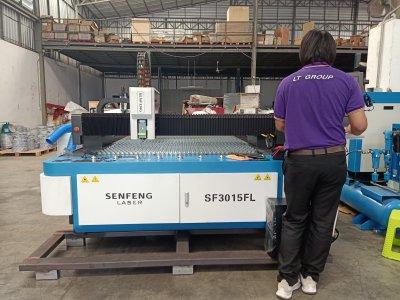 ส่งมอบfiber laser ยี่ห้อ SENFENG รุ่น SF3015FL และปั้มลมแรงดันสูง 1.6Mpa./20HP  บุรีรัมย์