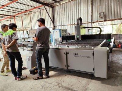 ส่งมอบ fiber laser  dema x7 1kw พิกัด ศรีนครินทร์