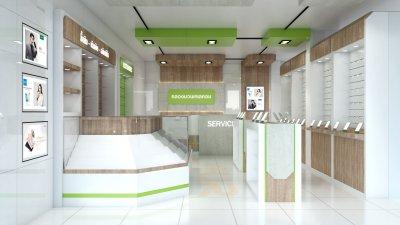 ออกแบบและตกแต่งร้านจำหน่ายมือถือ ร้าน คลองมวนเทเลคอม อ.คลองมวน จ.ตรัง