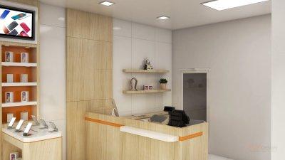 ออกแบบร้านจำหน่ายมือถือ ร้าน บ้าน มือถือ จังหวัด สุราษฎร์ธานี