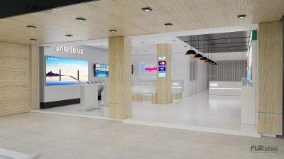 ออกแบบร้านจำหน่ายมือถือ ร้านยานยนต์โฟน จ.ชัยภูมิ