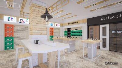ออกแบบร้านจำหน่ายมือถือ ร้าน YOUR PHONE จ.เพชรบูรณ์