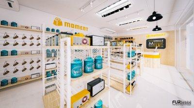 ออกแบบ 3D ร้าน MOMENT ร้านจำหน่ายกิ๊ฟช็อป ขายสินค้าหลายหมวดหมู่ เช่น เครื่องสำอาง , กระเป๋า , รองเท้า , ของใช้ในชีวิตประจำวัน , ของตกแต่งบ้าน ฯลฯ