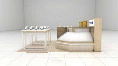 ออกแบบร้านจำหน่ายมือถือ :ร้านทวีทรัพย์  เทสโก้โลตัส สาขาเวียงสระจ.สุราษฎร์ธานี