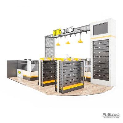 ออกแบบร้านจำหน่ายมือถือ ร้าน HUG MOBILE @ เซนทรัลเชียงราย