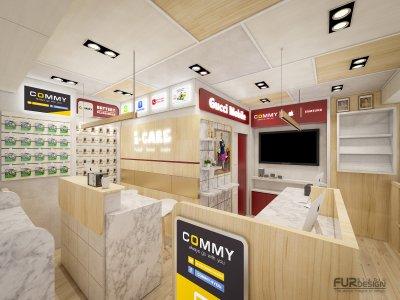 ออกแบบร้านจำหน่ายมือถือ ร้าน Gucci mobile @ เอ็มบีเค เซ็นเตอร์ (MBK Center Bangkok)