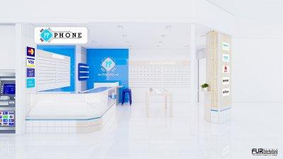 ออกแบบร้านจำหน่ายมือถือ ร้าน pp phone เทสโก้โลตัส อ. สมเด็จ จ.กาฬสินธุ์