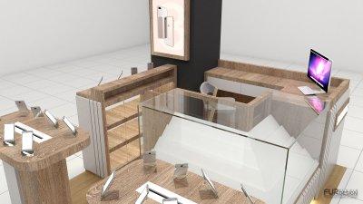 ออกแบบ 3d ร้านจำหน่ายมือถือ ร้าน samsung corner พัทยา จ.ชลบุรี
