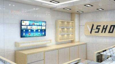 ออกแบบ 3d ร้านจำหน่ายมือถือ ร้าน v - shop มาบุญครอง เซ็นเตอร์ (MBK Center) กรุงเทพมหานคร