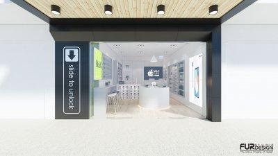 งาน ออกแบบ 3D ร้าน mac guru จ.ชุมพร