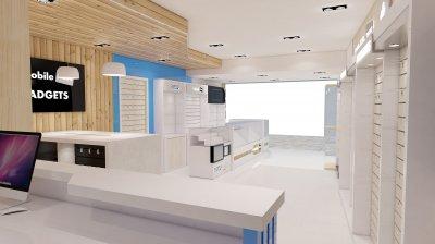 ออกแบบร้าน P-Mobile Plus เกาะพีพี จังหวัดกระบี่