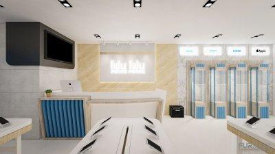ออกแบบร้านจำหน่ายมือถือ ร้านโฟนโฟน เทสโก้ดลตัส อ.เสนา จ.พระนครศรีอยุธยา