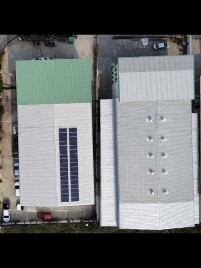 ออฟฟิศสำนักงานติดตั้งโซล่าร์รูฟท็อปขนาด 10 กิโลวัตต์
