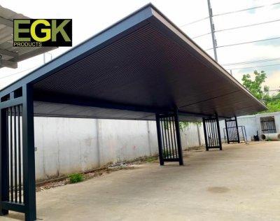 งานหลังคาโรงรถกันสาดระบบ Knockdown  โดย EGK Products