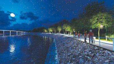 ทางเลียบแม่น้ำปัตตานี (สถานที่ท่องเที่ยวตำบลท่าสาป)