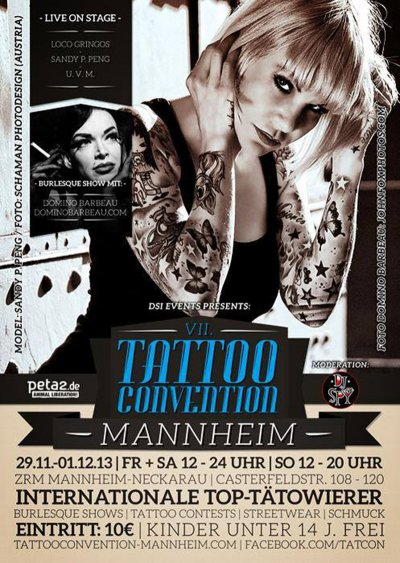 MANNHEIM TATTOO CONVENTION 2013
