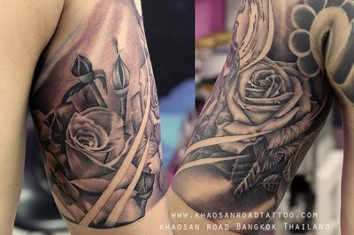 Black and grey