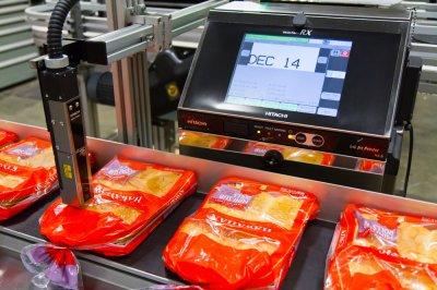 ตัวอย่างการใช้งาน Hitachi Inkjet Printer